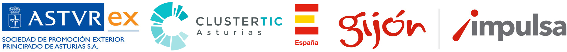 Logos ASTUREX, Cluster TIC Asturias e ICEX